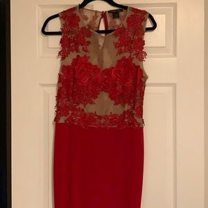 Dresses & Skirts - Red Lace Gown